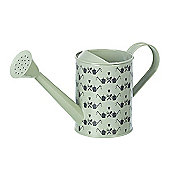 Parlane Small Green Metal 'Love To Grow' Watering Can - 16 x 29cm