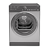 Hotpoint Aquarius Vented Tumble Dryer, TVFS 73B GG - Graphite