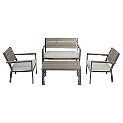Coastal 4-piece Outdoor Lounge Set