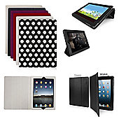 Orzly Tri-Fold Case for Apple iPad 2, 3, 4 - Carbon Fibre White