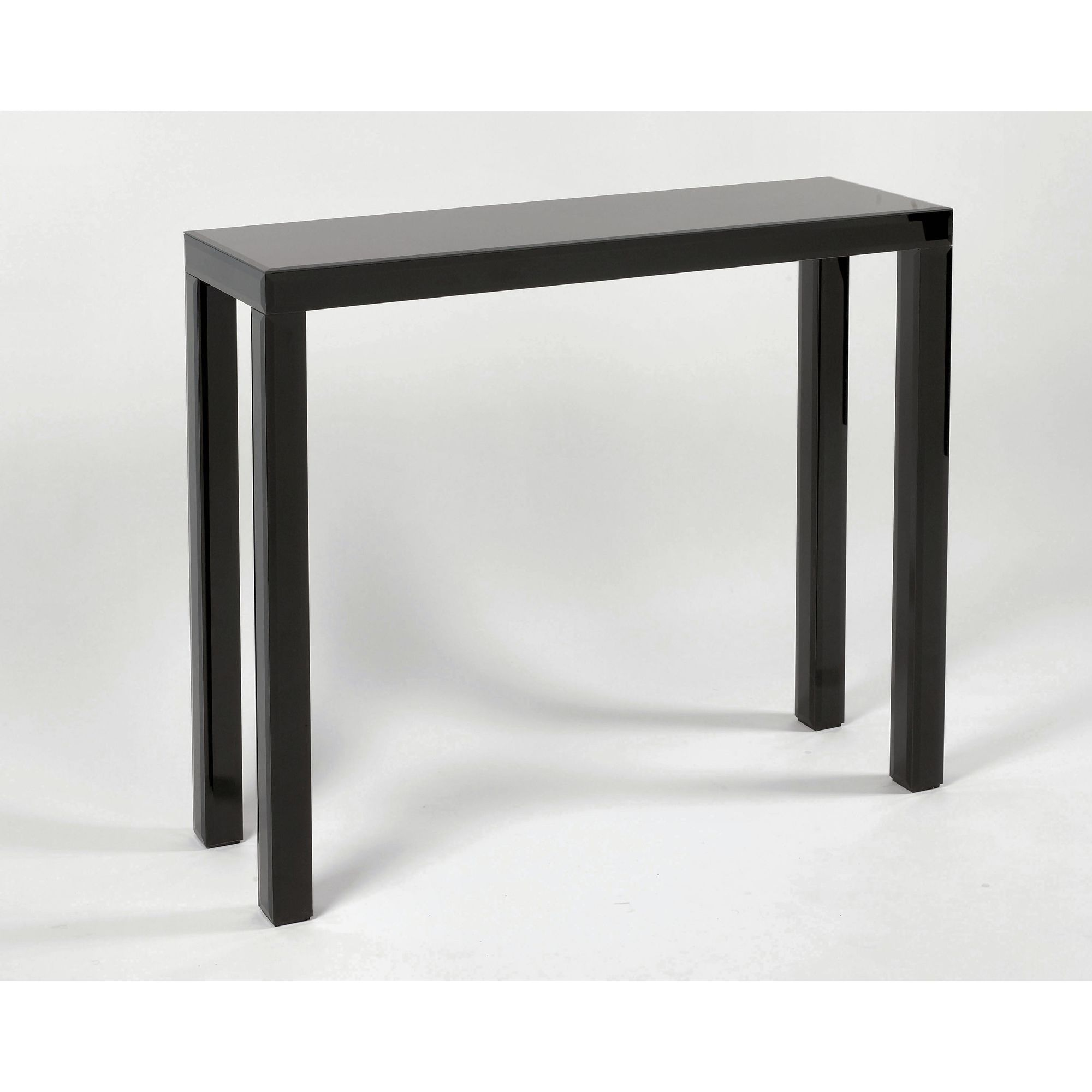 Morris Mirrors Ltd Bevelled Top and Legs Console Table - Black at Tesco Direct