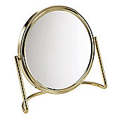 Famego 5x Magnification 15cm Mirror in Gold