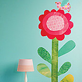 Big Flower Growth Chart Wall Sticker