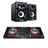 Numark Mixtrack Pro 3 & Alesis Elevate 5 Studio Monitor Bundle
