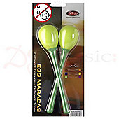 Stagg Green Long Plastic Egg Maracas