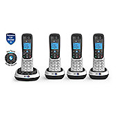 BRI-2700-QUAD Digital Cordless Telephone with Answer Machine in Silver