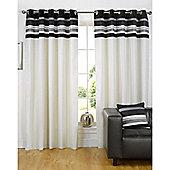 Dreams n Drapes Kendal Black 46x90 Eyelet Lined Eyelet Curtains