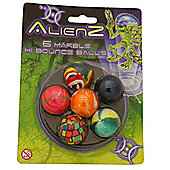 Alienz - 6 Hi Bounce 'Marbled Design' Balls