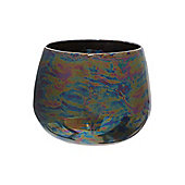 Lustre Ceramic Votive, Charcoal