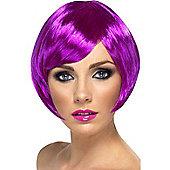 Purple Short Bob Babe Wig