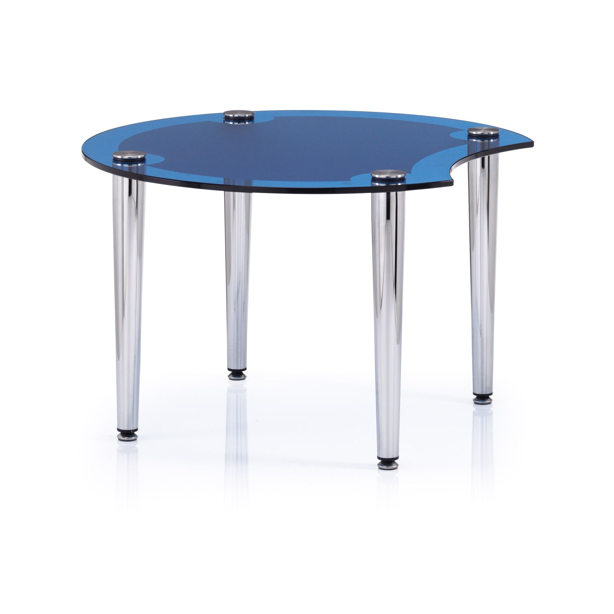 Ocee Design Casino End Table - Blue at Tesco Direct
