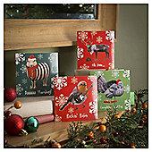 Tesco Fun Humour Animal Christmas Cards, 20 Pack