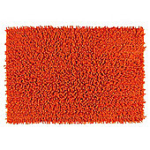 Tesco Chenille Bath Mat Orange