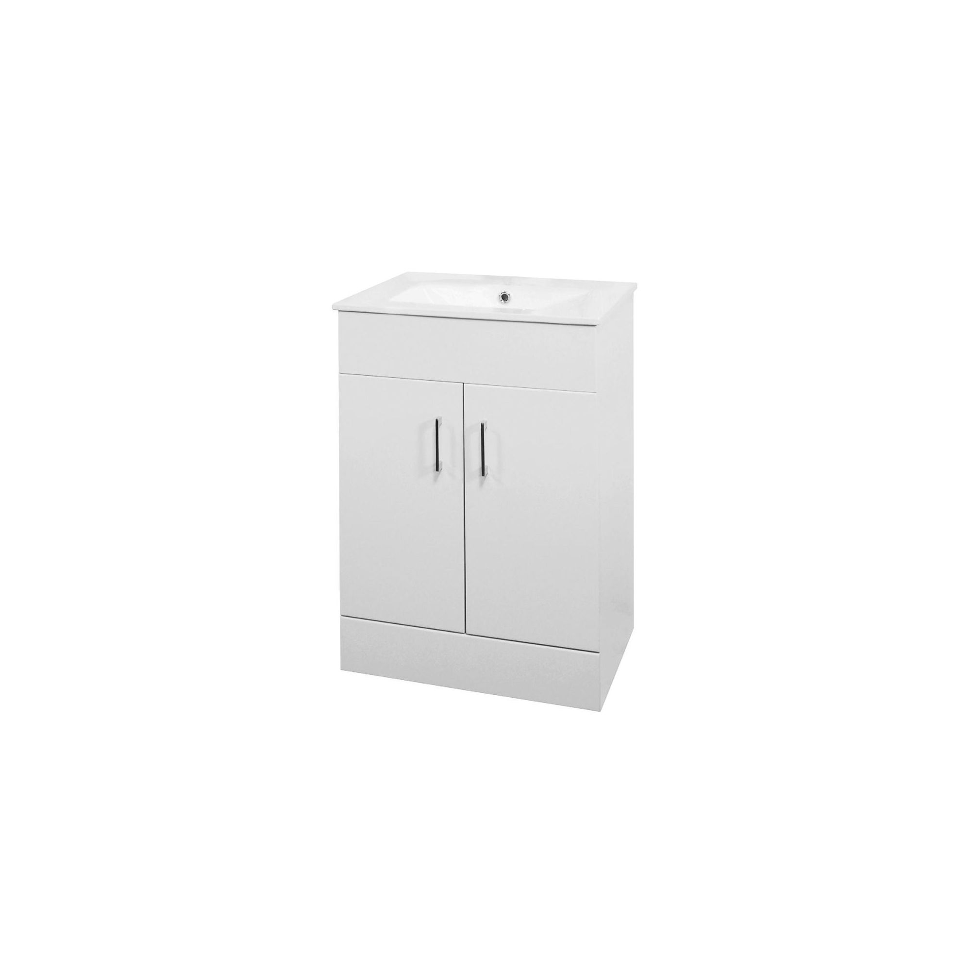 Premier Minimalist Basin Vanity Unit White 600mm