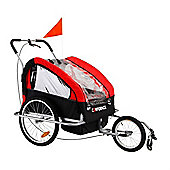 Confidence Folding Baby Stroller/Buggy W/ Suspension For Jogging/Attach To Bike Red