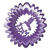 Iron Stop Large Purple Hummingbird Classic Wind Spinner 12in