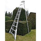 Trade 2.4m (7.87ft) Adjustable - Garden Hedge Cutting Tripod Ladder