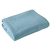Clair de Lune Cellular Pram Blanket (Blue)