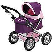 Bayer Toys Doll Pram Trendy - Purple