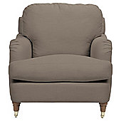 Florence Armchair Linen Effect Taupe