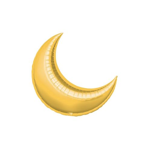 Gold Crescent Balloons - 10' Foil Balloon (5pk)