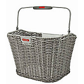 Rixen & Kaul Structura Retro Front Basket: Stone Grey