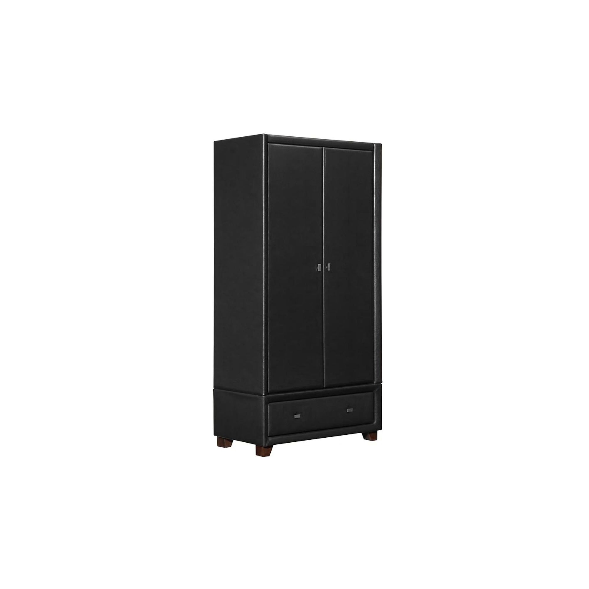 Birlea Brooklyn Faux Leather Wardrobe - Black at Tescos Direct
