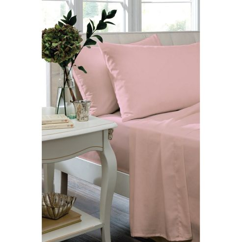 Catherine Lansfield Home Non Iron Percale Combed Polycotton Double Bed Fitted Sheet Candy