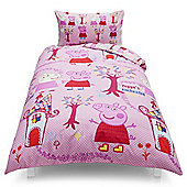 Peppa Pig Golden Boots Single Duvet Set TESCO EXCLUSIVE