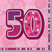 50th Paper Luncheon Napkins 33cm