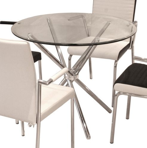 Home Essence Signature Criss - Cross Dining Table - 90cm