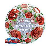 "Valentines Red Roses Balloon - 22"" Bubble (each)"