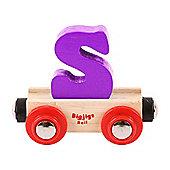 Bigjigs Rail Rail Name Letter S (Purple)