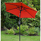 Cambridge 2m Crank And Tilt Garden Parasol Red