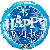 18' Birthday Blue Sparkle (each)