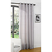 Dreams and Drapes Glamour Eyelet Lined Single Curtain 55x72 inches - Silver