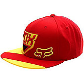 Fox Racer Snapback Cap - Red Size: One Size
