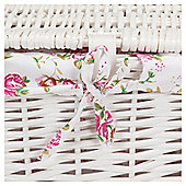 Tesco White Wicker Lined Lidded Baskets 2pk