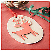 Tesco 3D Craft Reindeer Christmas Tags, 3 Pack
