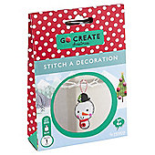 Go Create Christmas Felt Snowman Decoration