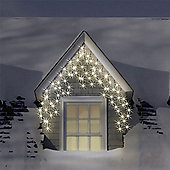 400 Warm & Ice White LED Multi-Function Icicle Lights