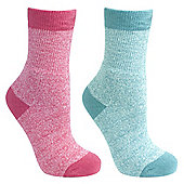 Trespass Girls Confess 2 Pack Sock - Multi