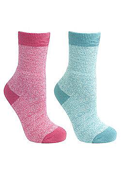 Trespass Girls Confess 2 Pack Sock - Multi