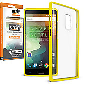 **Orzly** Fusion Case for OnePlus Two - Yellow / Clear