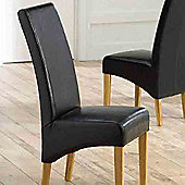 Mark Harris Furniture Venice Oak Dining Chair (Set of 2) - Black