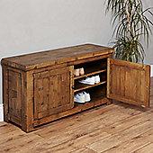 Baumhaus Heyford CRS20c Rough Sawn Oak Shoe Storage Bench