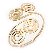 Egyptian Style Twirl Upper Arm, Armlet Bracelet In Gold Plating - Adjustable