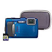 "Olympus TG-835 Digital Camera, Blue, 16MP, 5x Optical Zoom, 3"" LCD Screen, SD Card & Hard Case"