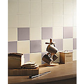 Colour Palette Cream Gloss Ceramic Wall Tile 148x148mm