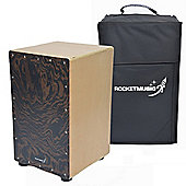 Rocket Chocolate Velvet Cajon with Bag